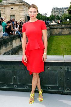 Dior Front Row  Lea Seydoux in Dior