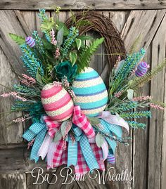 Easter Wreath Spring Wreath Easter Decor Spring by BaBamWreaths