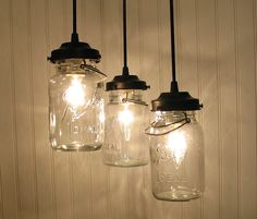 Vintage Canning Jar CHANDELIER Created NEW. $169.00, via Etsy.
