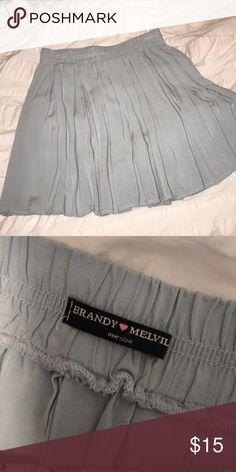 Brandy Melville Skirt Light blue-grayish Skirt Brandy Melville Skirts