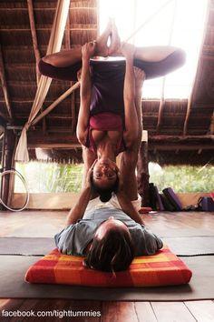 Couples yoga! Haha