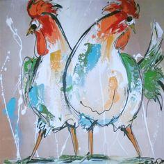 Rechter kleurig bonte kippen