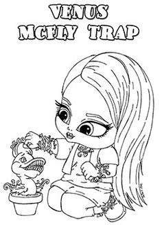 monster high venus mcfly trap baby chibi cute coloring page