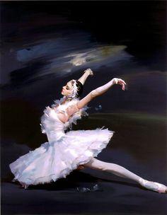 Naoyoshi Murayama - Ballerina- 'Swan Lake' (Painting) -2b