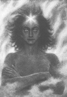 """""""The Lightbringer"""" (1890) ~ by FIDUS."""