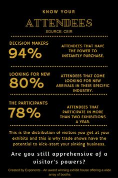 #Tradeshow and #exhibition attendees are high-end influencers of your industry. #infographic #eventprofs
