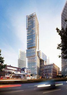 New Bondway North Tower, London-UK, 169.8 m, proposed 2013, architect-Kohn Pedersen Fox Associates