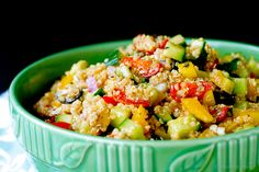 Quick and easy Greek quinoa salad that is great as either a side dish or your main meal. Plus it can be made ahead, and the leftovers are great for lunch!