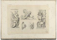 Vijf ornamenten voor gebouwen, Michel Liénard, 1866