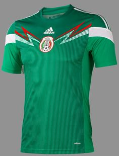 d4e0e1b98760 The new Mexico 2014 World Cup Kits are made by adidas. Mexico 2014 World  Cup Home Kit is green   white