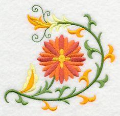 November 2014 Embroidery Library Free machine design  Suzani Fall Aster.