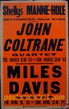 John Coltrane and Miles Davis, 1963