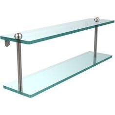 22 inch 2-Tiered Glass Shelf (Build to Order)