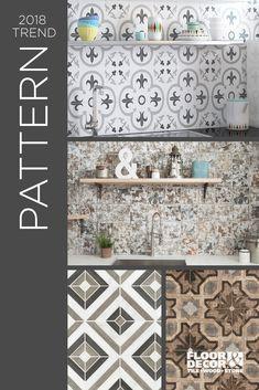 Focal Wall Floor Decor Tile Patterns Design Kitchen Backsplash