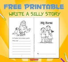 Sneak a little creative writing in for the funny kids with this Silly Stories writing prompt.