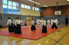 Aikido Kyuprüfung am 11.04.2014 in Linz: Aikidotraining in der HS Auhof vor der Aikidoprüfung