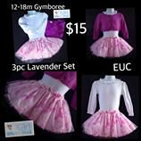 Gymboree 12-18m Infant/Toddler Girls Lavender 3pc Tutu & Cardigan Set $15. FREE shipping with purchases over $30.