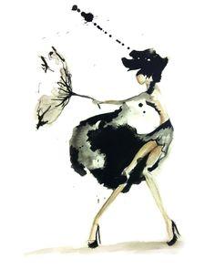 Claire Ashley #fashion #illustration