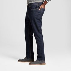 Men's Big & Tall Athletic Fit Jeans - Goodfellow & Co Dark Blue 58x32