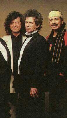Jimmy Page, Keith Richards & Carlos Santana