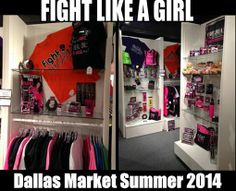 We are in Dallas! If you're in the Dallas area, stop by and see us (and our new products) at the Dallas Market Summer Gift Show. We are in the Imagine That showroom #1501. Our sales manager, Janni Jensen, will be there the rest of the week.  If you are a retailer but can't make it to the Dallas Market, you can apply to become a Licensed Fight Like a Girl retailer here: http://flag.ws/1vZztBP  Or if you just want to shop for official FLAG gear, visit us here: www.flagog.com