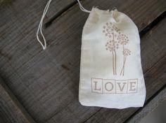 Sepia Stamped Dandelion and Love Rustic Wedding by PrinceSnowFarm, $15.00