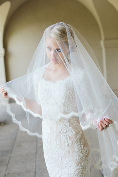 Drop veil. Veiled Beauty.