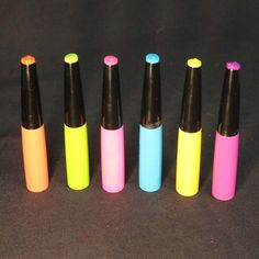 Neon Black Light Liquid Eye Liners, Lip Liners, or Body Art Detailers- Set of 6. Fluorescent Neon Eye Liner, Lip Liner, or Body Art Detailer. Vibrant Neon Colors GREEN, PINK, ORANGE, YELLOW,. Great for clubbing, stage events, and raves. Smooth application. Theatrical Light Eye Liner, Lip Liner, or Body Art Detailers. GLOMANIA USA is NOT AFFILIATED with any other cosmetic company on Amazon.
