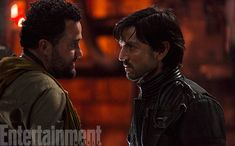 "Diego Luna, right, plays Captain Cassian Andor, a veteran spy for the Rebellion who has a network of contacts throughout the galaxy who help him keep eyes and ears on the activities of the Empire. Andor is like a CIA field agent, and this man, Tivik, played by Daniel Mays (The Infiltrator, Atonement) is one of his underworld connections to the insurgent group led by Saw Gerrera (Forest Whitaker). ""He is one of Cassian's contacts on the moon of Jedha,"" says co-producer John Swartz."