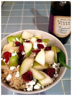 quinoa salad with pear & goat cheese