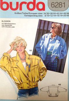 Burda 6281 UNCUT Misses jacket in classic by Lonestarblondie