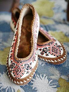 Bohemian ballet slippers.