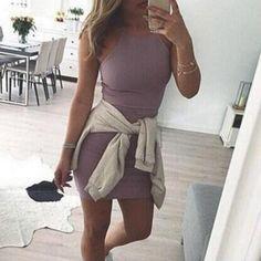 Dresses Length: Above Knee Neckline: High Neck Sleeve Length: Sleeveless…