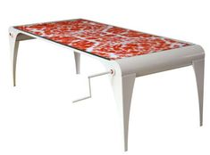 Table with transforming fabric