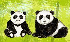 Bordüre. Pandabären • Mein Bordürenladen • DaWanda • www.meinborduerenladen.de