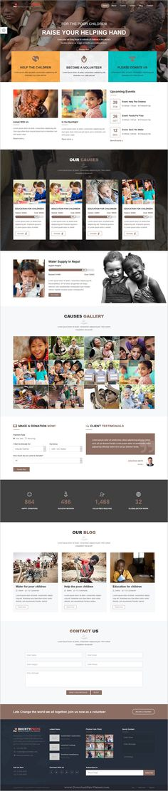 Bountypress is clean and modern design #bootstrap template for #charity, #crowdfunding and nonprofit organizations website download now > https://themeforest.net/item/bountypress-nonprofit-crowdfunding-charity-html5-template/19879685?ref=Datasata