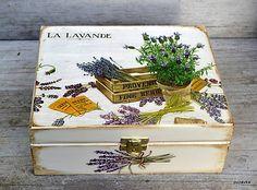 Pupavkashop / Provence levanduľa - čajová krabička