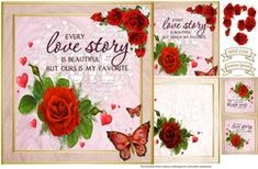 - A gorgeous card kit for Valentine or Anniversary. Kit comes with gift card, decoupage and sentiments, including one blank. Cup Design, Quick Cards, Beautiful Stories, Card Kit, Love Story, Gift Tags, Decoupage, Card Making, Anniversary