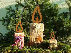 Edelrost Gartendekoration,Lampe Kerze Adventskranz Rost Flamme Weihnachten