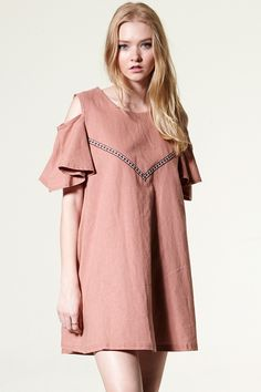 Pucci Embroidery Coldshoulder Dress Discover the latest fashion trends online at storets.com