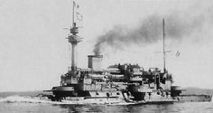 Warship Vintage, French Battleship, Battleship Hoch, Ugliest Battleship.