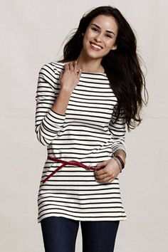 love this navy striped tunic!