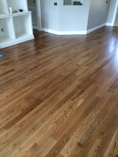 Special Walnut floor color from Minwax. Satin finish