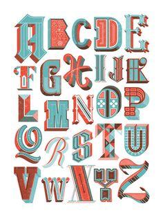 Alphabet Poster Art Print by Jude Landry
