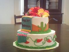 A Mexican fiesta cake for an anniversary.