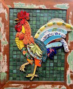 cockerel mosaic