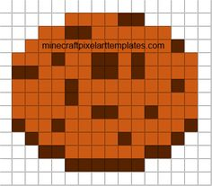 Minecraft Pixel Art Templates: Cookie