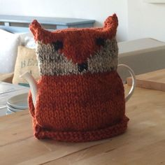 Fox Tea Cosy knitting project shared on the LoveKnitting Community