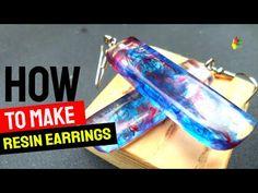 DIY.KERAJINAN DARI RESIN 108 (RESIN EARRINGS) / RESIN ART - YouTube Making Resin Rings, Jewelry Making, Diy Resin Earrings, How To Make Resin, Make Art, Resin Art, Epoxy, Sign, Youtube