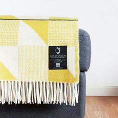 Olive & Cream Blanket.